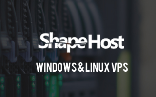 ShapeHost Coupon 15% Discount on Windows VPS Package